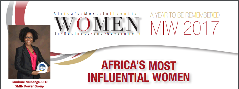 "CEO Magazine To Recognize SMIN Power Group CEO As One Of ""Africas Most Influential Women in Business and Government"""